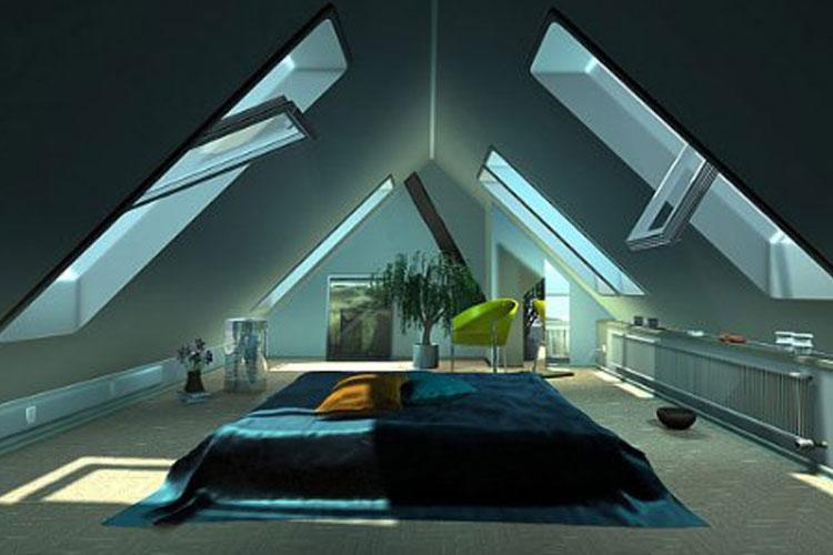 Decoraci n e ideas para mi hogar dormitorios en ticos - Ideas para aticos ...